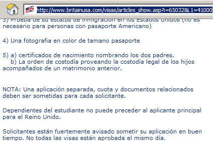 britainusa.com Spanish page