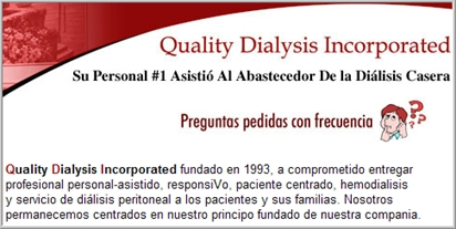 Quality Dialisis Incorporated Spanish page
